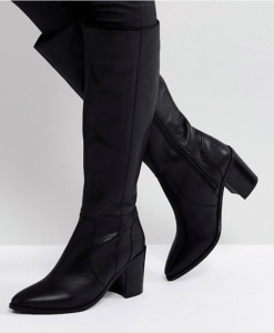 ASOS CAUGHT UP Leather Knee High Boots
