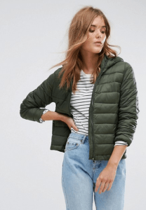 ASOS Pull&Bear Padded Jacket With