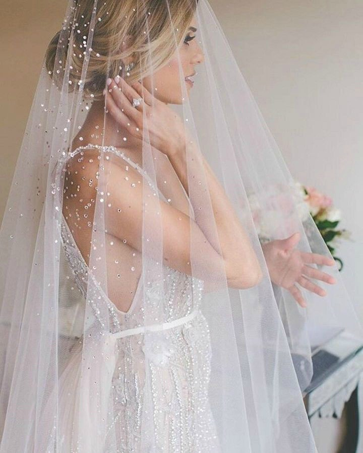 Wedding dress veil trends 2018