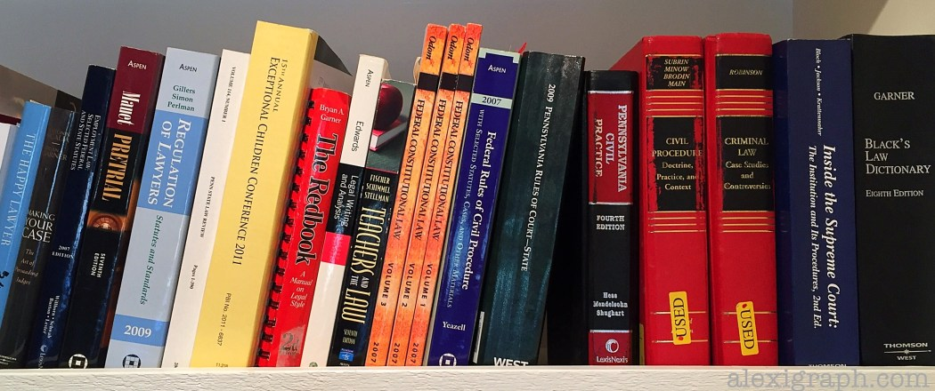 Photo of a shelf of law books
