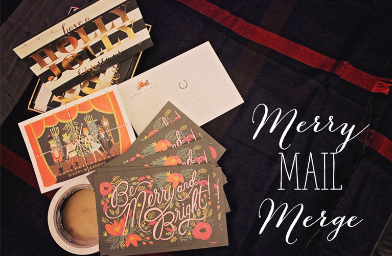 Merry Mail Merge! Making Christmas Cards a little bit easier! | Alex Inspired
