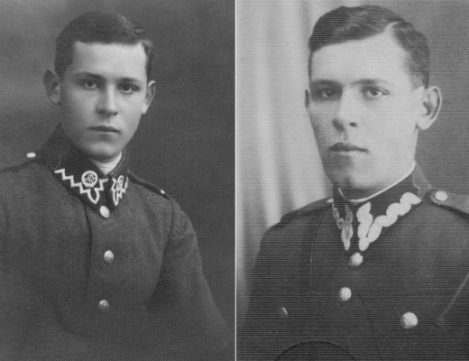 Dziadzio as a young man in his military uniforms