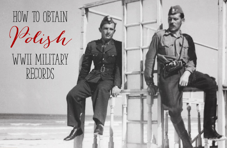 How to Obtain Polish WWII Military Records (Captain Frankow sitting with fellow soldier somewhere in Palestine WWII) | alex inspired
