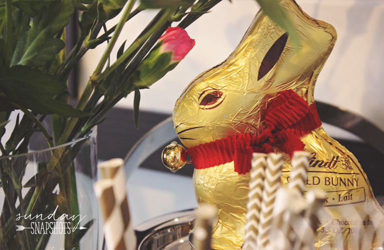 Sunday Snapshots - Easter Sunday with a Gold Lindt Bunny