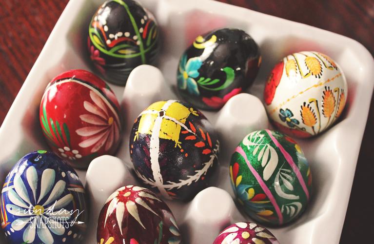 Sunday Snapshots - Polish Easter Eggs, Pisanki & Jajko
