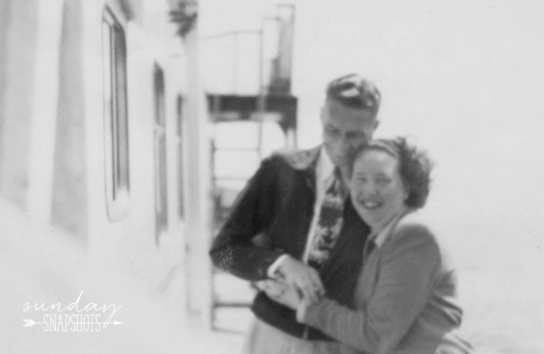 Stanley and Glenna on a boat taking a photo | Alex Inspired