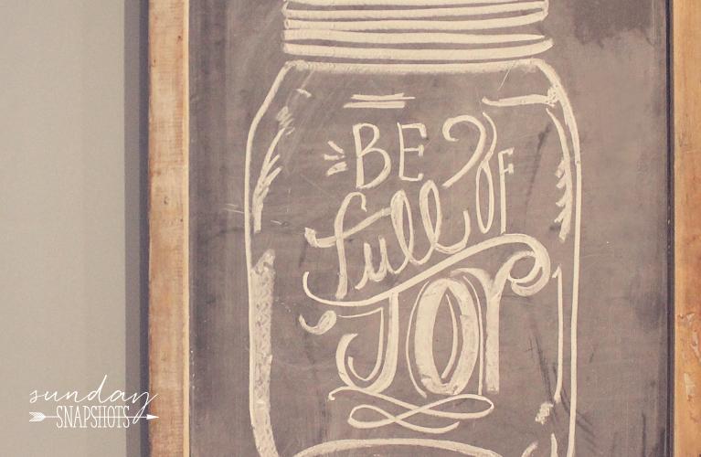 "Chalkboard ""Be Full of Joy"" In the Kitchen | Alex Inspired"