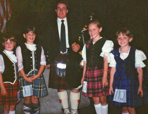 1990 something Highland Dance Competition Thunder Bay, Ontario