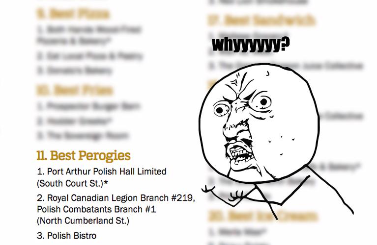 Pierogi, spelled wrong