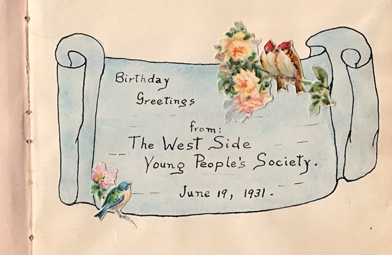 Birthday Greetings to Alvin, from the West Side Young People's Society | Alex Inspired