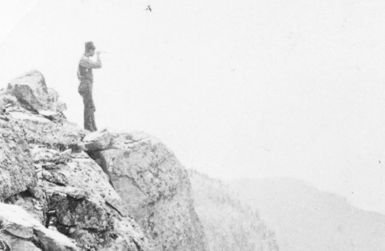 James Esson standing on cliff
