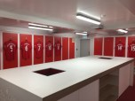 Anfield dressing room