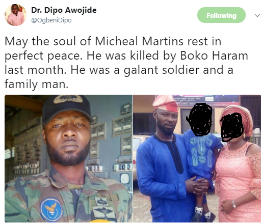 598158c806c30 - Photos of a young soldier killed in a recent Boko Haram attack