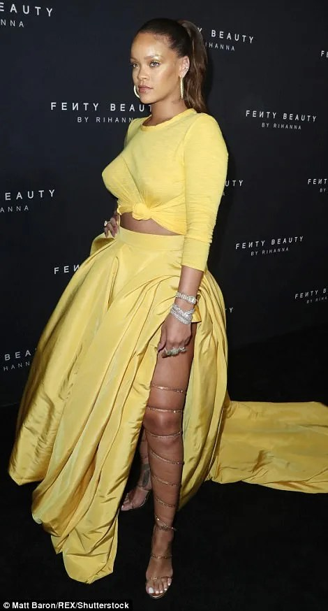 59b26bf158862 - Rihanna Slays in Yellow Crop Top & Sexy Skirt With Slit