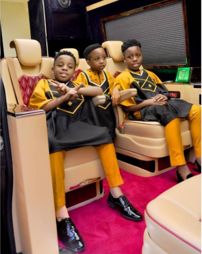 Photos: E-Money and his sons looking stylish in matching outfits