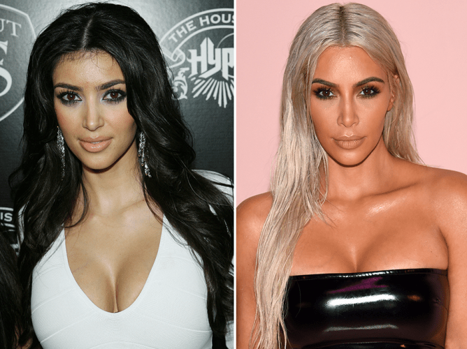 Kim K 10 years ago vs Now - who is more beautiful? (photo)