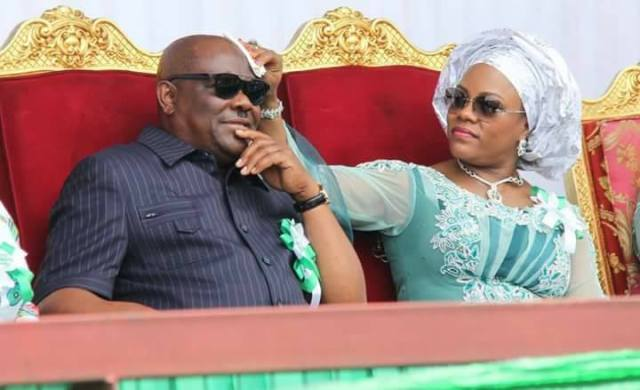 Doting wife! Between Rivers state first lady, Eberechi Wike, and her husband, Gov. Wike