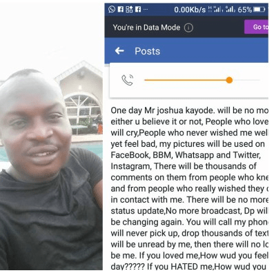 Man dies 3-months after making a post about his death on Facebook