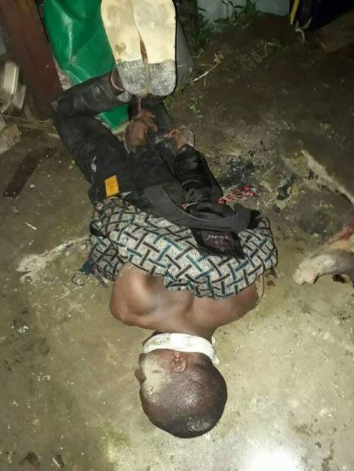 Photos: Residents, police reportedly rescue three young men about to be buried alive by suspected thugs in Rivers State
