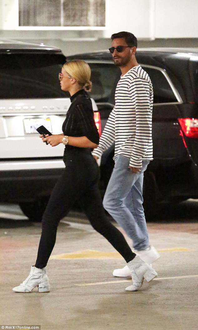 Scott Disick holds hands with Sofia Richie as they step out for lunch in Beverly Hills (Photos)