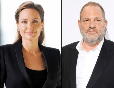 Angelina Jolie claims she was also sexually harassed by movie mogul Harvey Weinstein in 1998