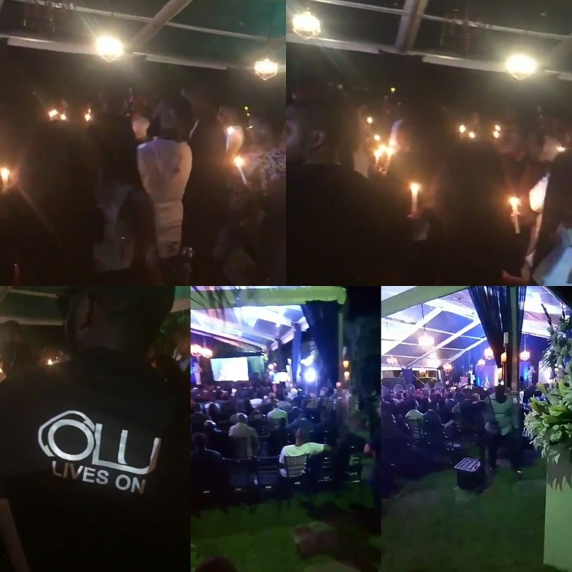 More photos from the candlelight service held in the honour of late DJ Olu last night