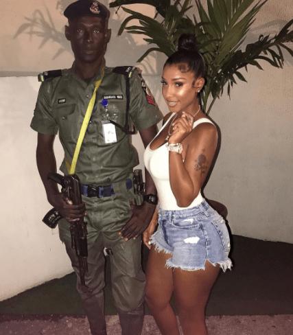 Photo: Bernice Burgos arrives Nigeria to host?Dbanj
