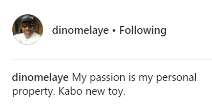 Dino Melaye shows off his