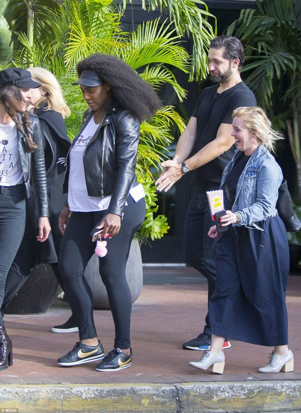 Photos: Serena Williams and her fianc? Alexis Ohanian spotted in New Orleans as they begin plans for their glamorous wedding?
