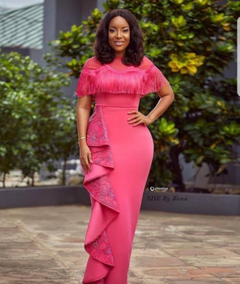 Curvy Ghanaian actress, Joselyn Dumas looks stunning in new photos