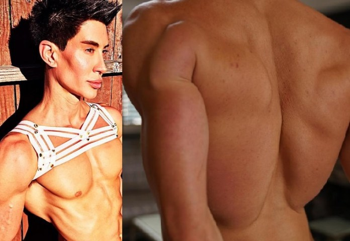 ?Human Ken Doll? Justin Jedlica spends 2 years developing weird back implants to make him look more muscular (Photos)
