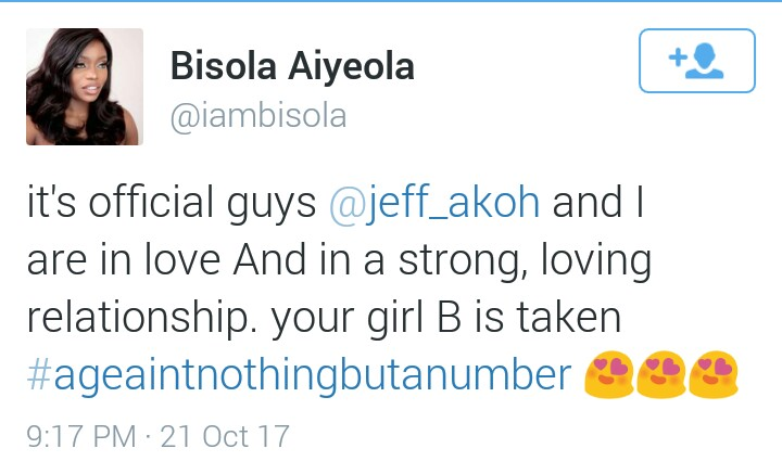 Publicity stunt? Ex BBN housemate, Bisola, 31, reveals she is in a relationship with project fame winner, Jeff, 21