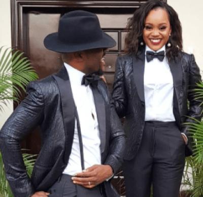 Photos: Ebuka Obi-Uchendu and wife rock matching tuxedo to Ifeoma Williams