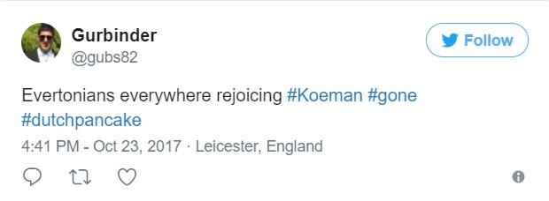 Football fans go ballistic on Twitter after 18th placed Everton sack manager, Ronald Koeman
