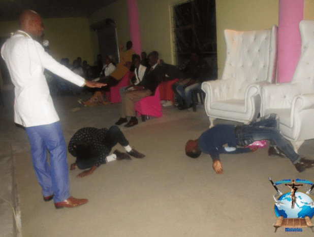 South?African pastor, Penuel Mnguni feeds members of his church with cockroach and poisonous flower