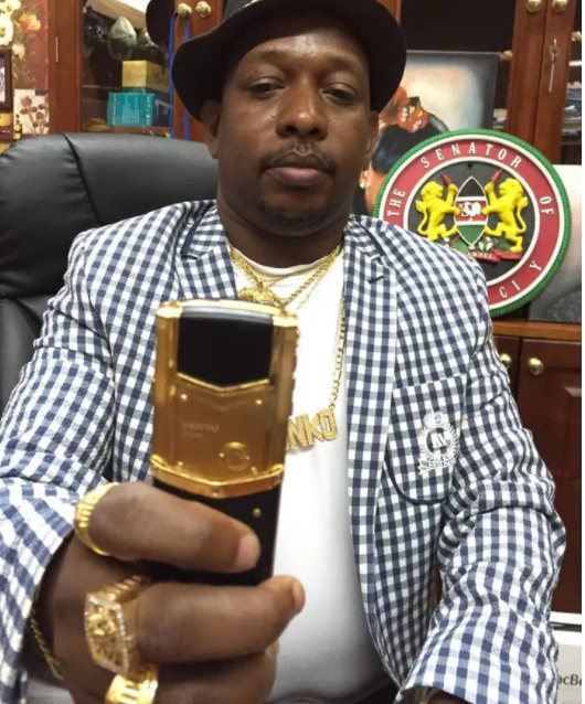 WTF is this guy? Meet the Kenyan governor who has gold cars, uses 24 karat gold phones and only drinks gold wine (photos)