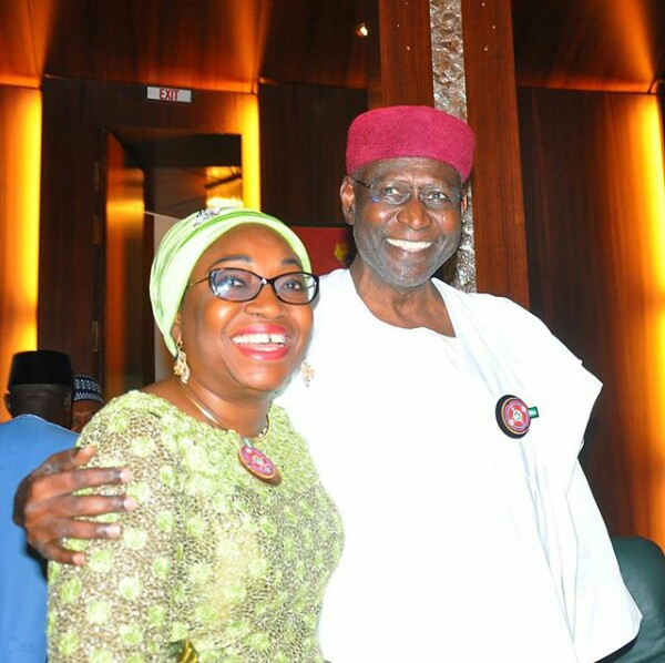 5a030dbff3df3 - Head of Service, Winifred Oyo-Ita all smiles with Chief of Staff to the President, Abba Kyari at FEC Meeting today (photos)