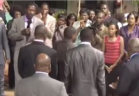 Lol...Zimbabwean pastor exposes man who brought his side chick to church, ask him to choose between the lady and his wife (Video)
