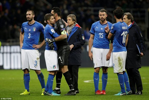 2018 FIFA World Cup; Italy Fail To Qualify For First World Cup In 60 Years
