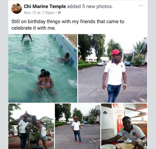Photos: Nigerian native doctor frolicks in swimming pool with his woman, says he can