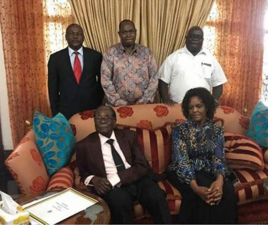 Image result for First Photo Of Robert Mugabe And His Wife After His Resignation