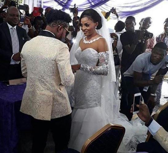 photos from Oritsefemi & Nabila white wedding