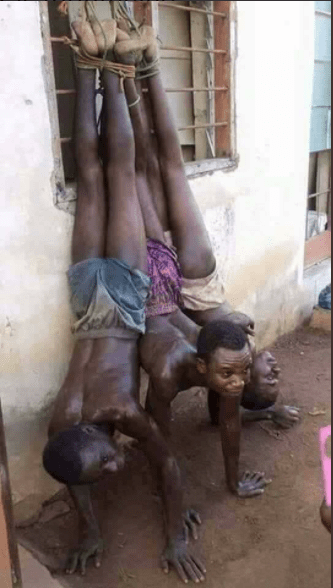 Shocking photos of Nigerians and other Africans held captive and sold as slaves in Libya