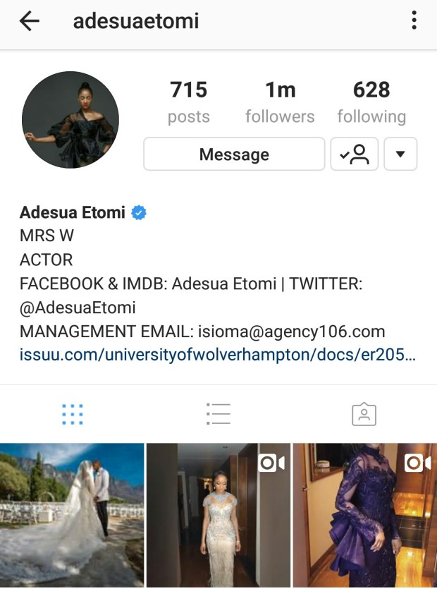 Adesua Etomi finally adds