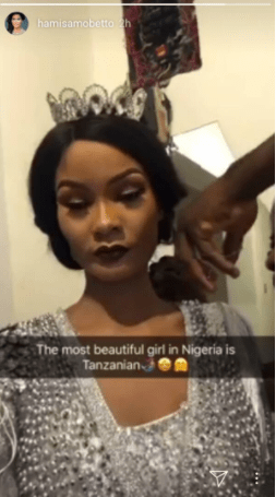 Diamond Platnumz second baby mama, Hamisa Mobetto declares herself the most beautiful girl in Nigeria