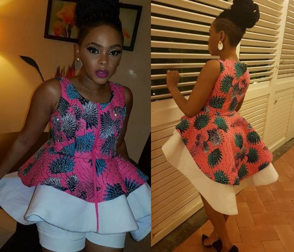 Chidinma Ekile flaunts her stunning dress to?Muni Festival in Equatorial Guinea (Photos)