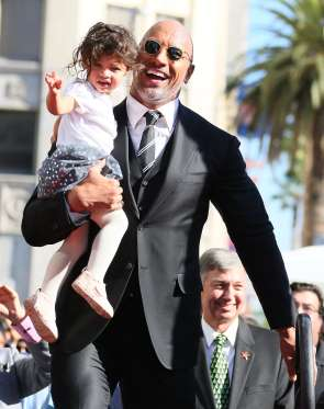 The Rock receives his star on the Hollywood Walk Of Fame