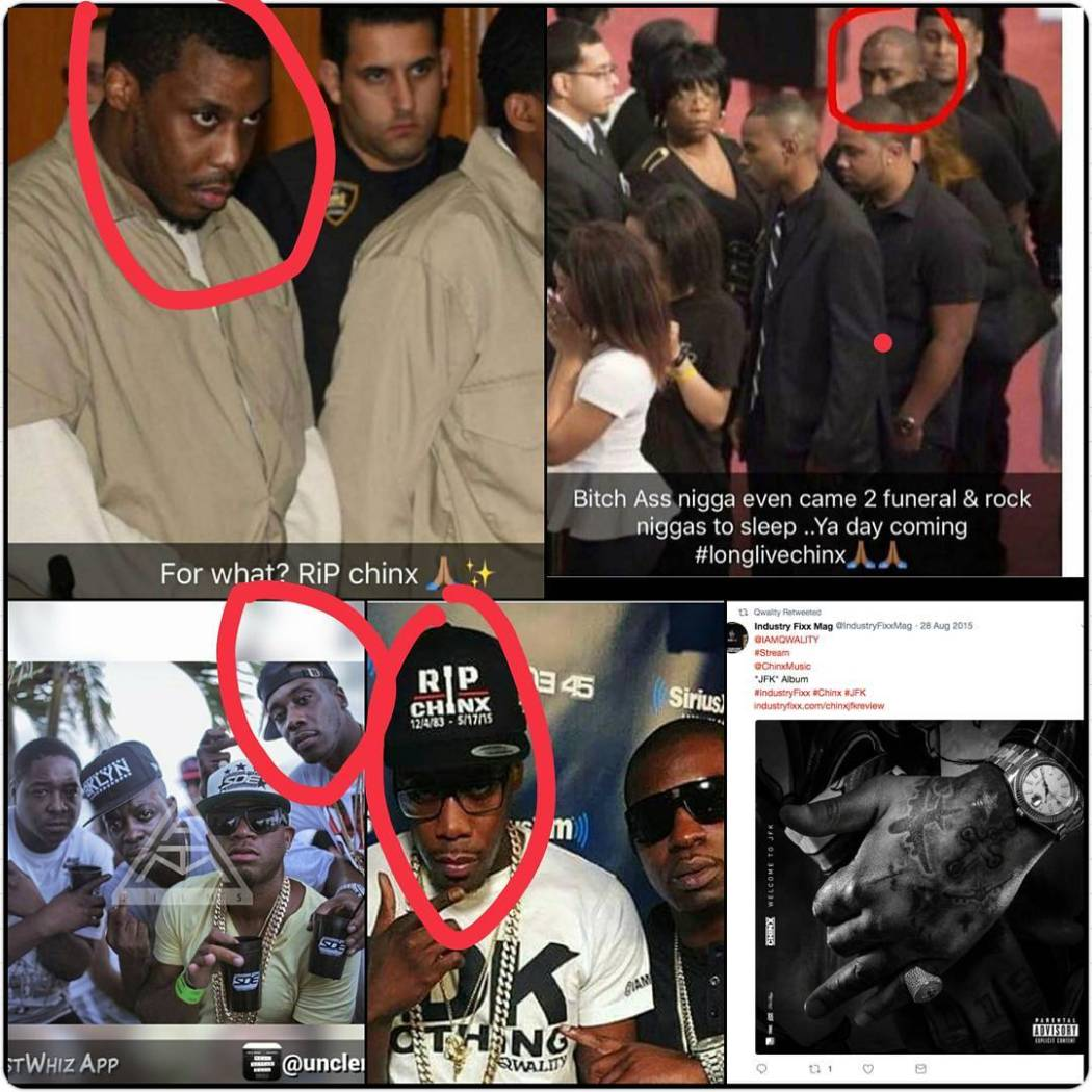 One of the men arrested for the murder of rapper Chinx Drugz in 2015, attended his vigils, wake memorial & wore an ?RIP Chinx? Hat (See Photo)
