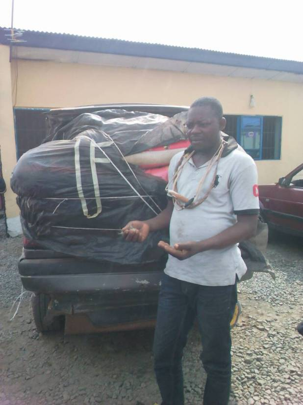 Photos: Lagos police command intercept six vans loaded with N50m worth of contraband goods