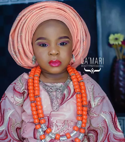 Slay baby! 3-year-old Nigerian girl gets a face beat for her birthday photoshoot